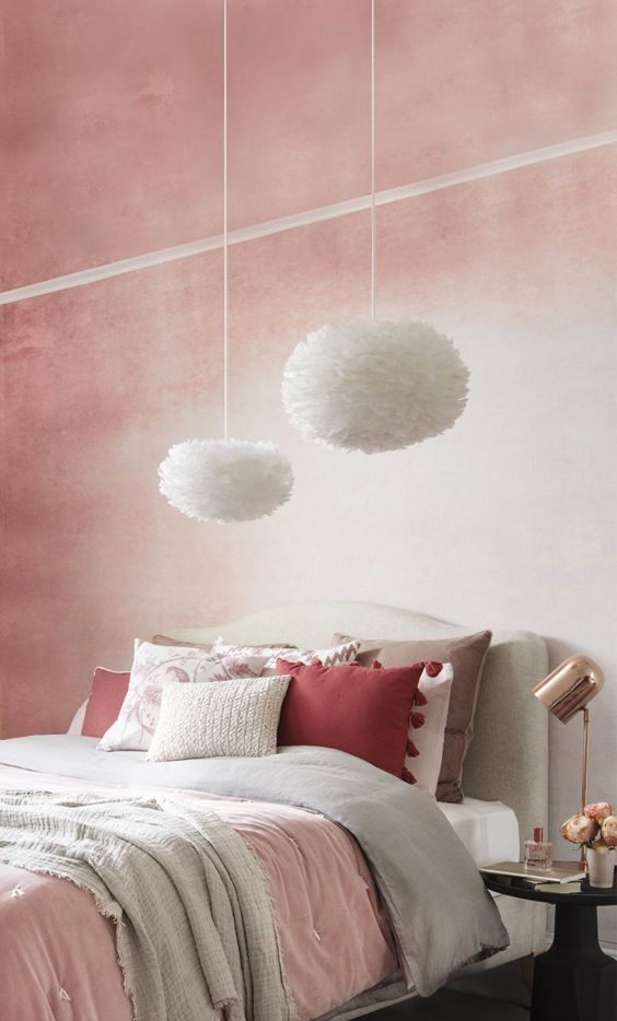 How to style coral blush tones. Ideal Home shows us how to contrast distressed walls with girly feminine decor!
