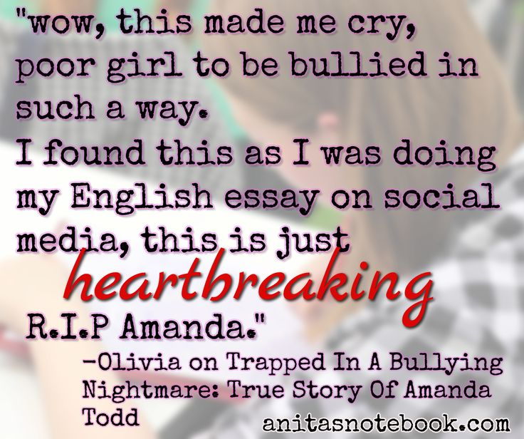 Amanda Todd, I'll never forget her story ;(.