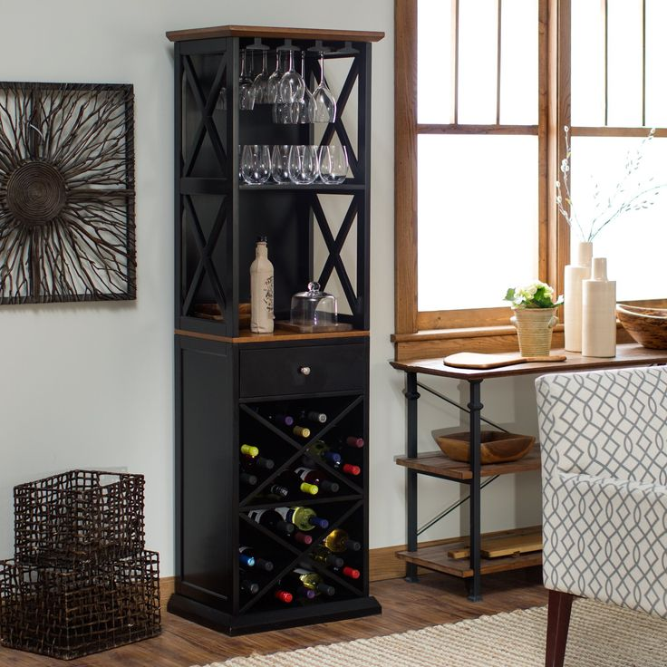 Belham Living Hampton Wine Tower - Wine Racks at Hayneedle $229 Perfect!