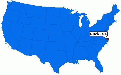 Duck is at the Outer Banks or OBX