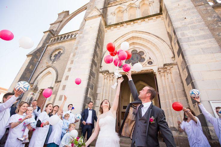 sortie d'Eglise ballons hélium