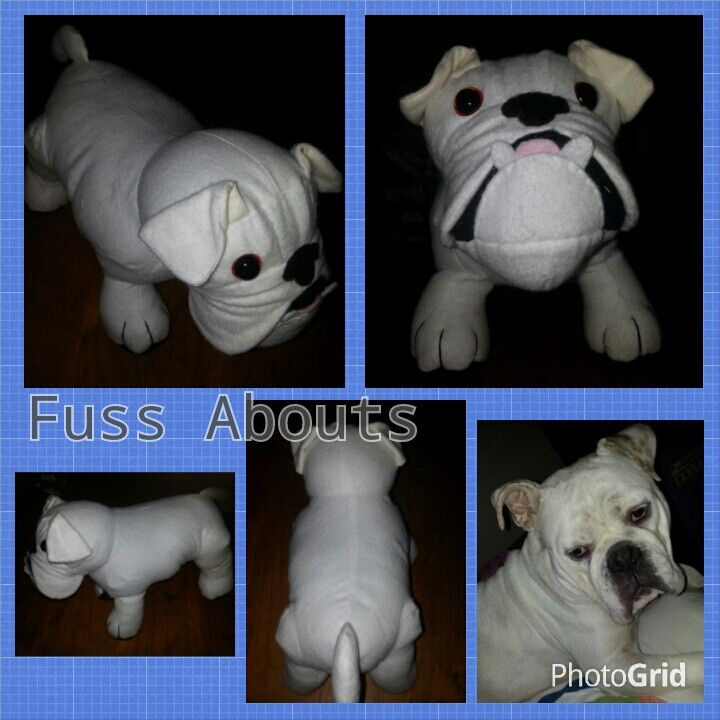 Mini Bulldog...available to order at www.facebook.com/fussabouts