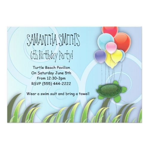 121 best Turtle Birthday Party Invitations images – Turtle Birthday Invitations