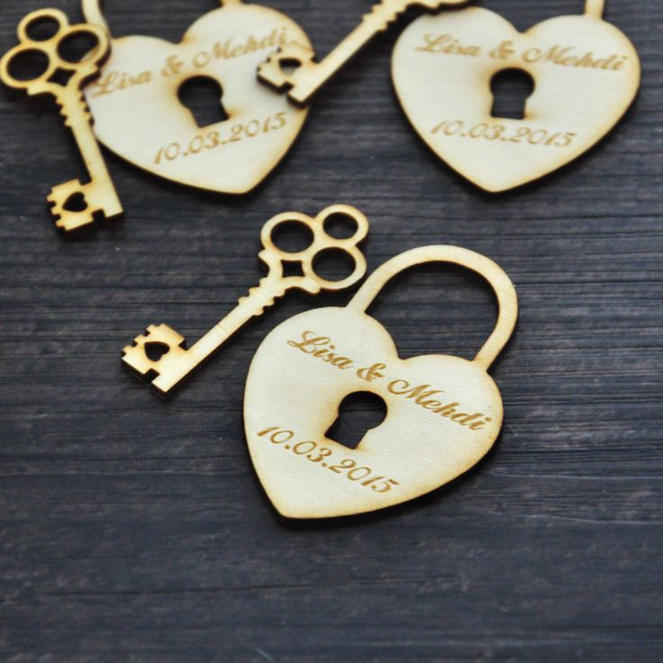 Find More Event & Party Supplies Information about Personalized wedding favor tags, Wood Heart and Key, (50) Custom Wedding tags, Rustic wedding Wood Tag , wood Hang Tags,High Quality gifts wall,China gift tag image Suppliers, Cheap gift for baby born from Fashion Handmade Shop on Aliexpress.com