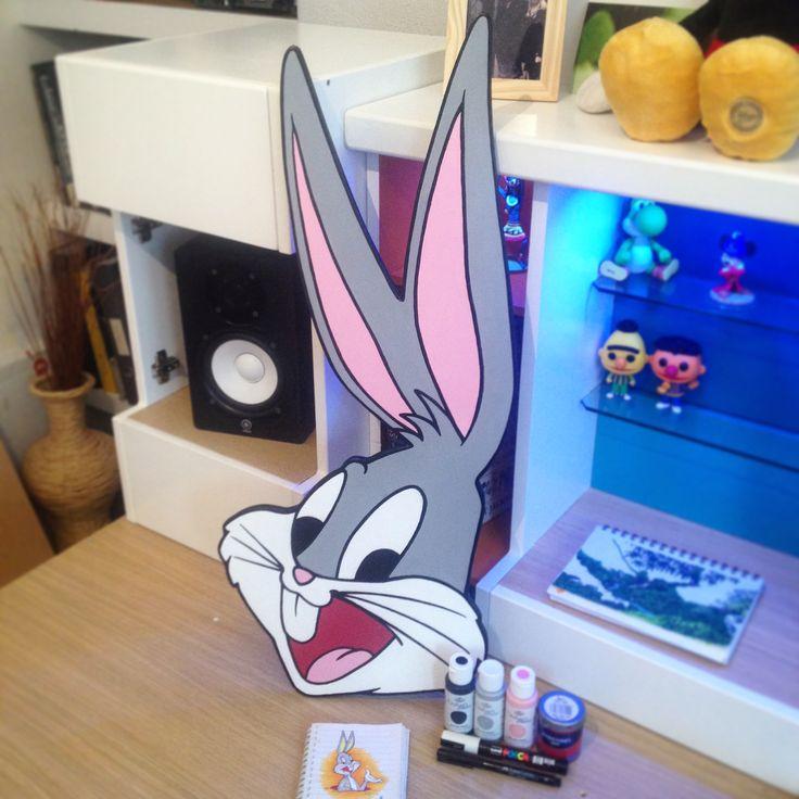 Bugs Bunny wooden plaque