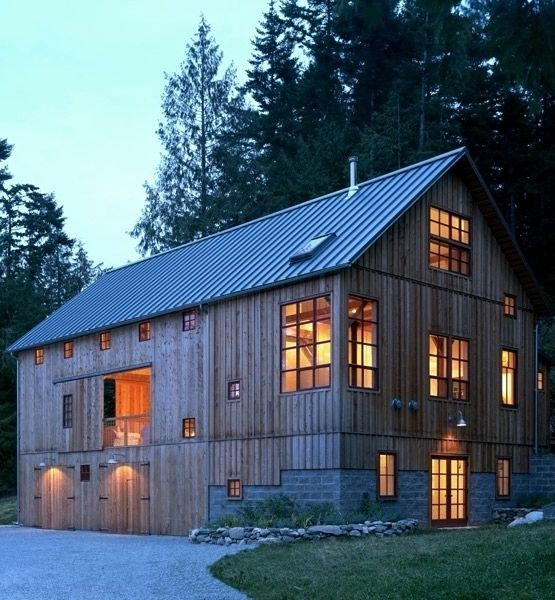 bank barn house.