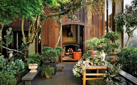 Beautiful Modern Japanese Garden Landscape Ideas – Decorating Ideas - Home Decor Ideas and Tips Architectural Digest, Modern Japanese Garden, Japanese Garden Landscape, Vintage Japanese, Modern Landscaping, Garden Landscaping, Landscaping Software, Outdoor Spaces, Outdoor Living