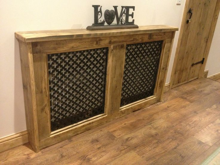 radiator cover made with pallets - Google Search