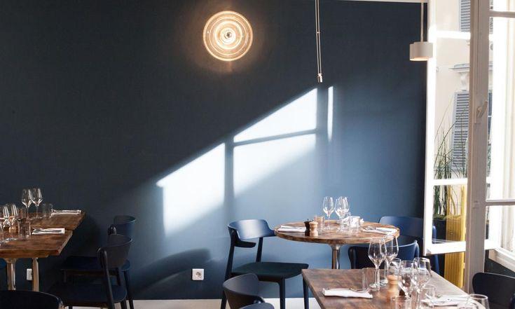 The Socialite Family   Du bleu à l'infini dans la salle du Bell Maison. #meet #portrait #address #adresses #restaurant #bar #bellemaisonrestaurant #pantruche #caillebotte #emiliebonavenure #déco #design #fish #poisson #blue #bleu #paris #thesocialitefamily