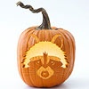 Free Raccoon Pumpkin Stencils from Better Homes and Gardens  http://www.bhg.com/halloween/pumpkin-carving/free-woodland-theme-pumpkin-stencils/#