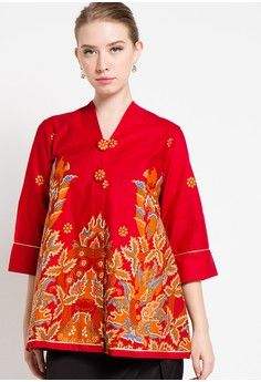Blouse Batik Sawat Sayap from Arjuna Weda in red