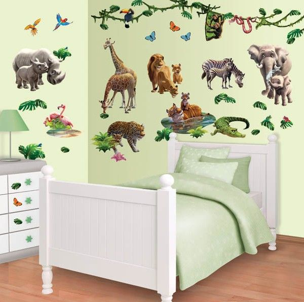 Hungry Caterpillar Wall Stickers Part   44: Jungle Adventure Kids Wall  Stickers For A Boys Part 68