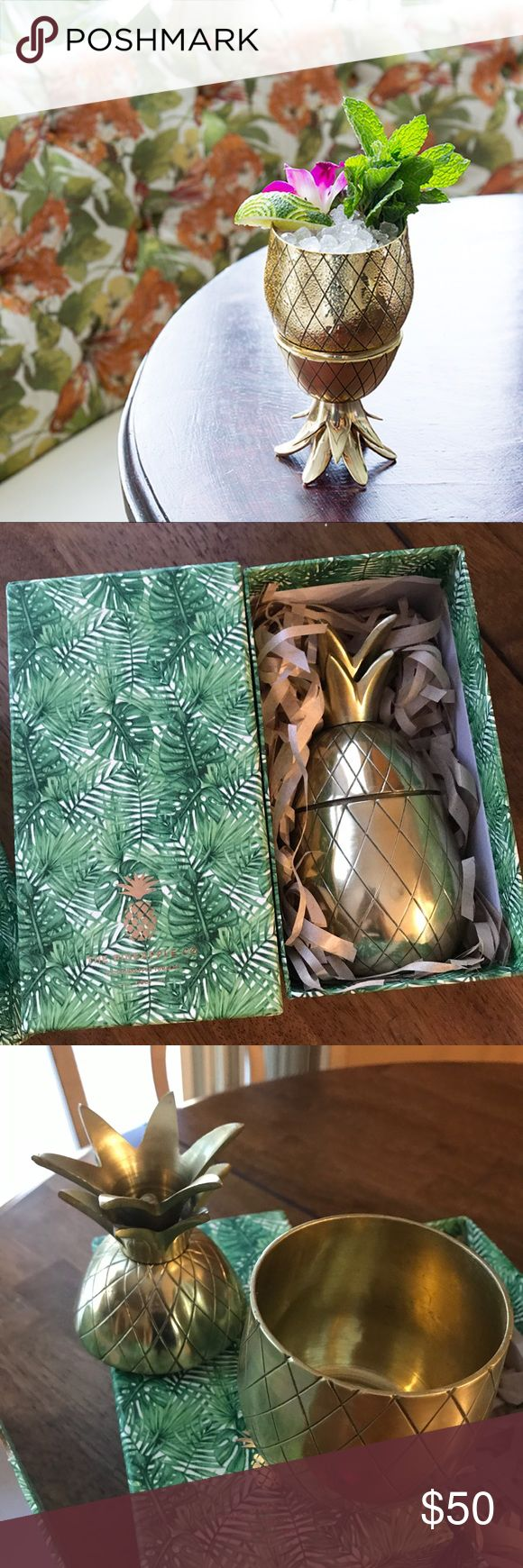 Set of 2 Pineapple Co Tumblers Set of 2 Pineapple Co Cocktail Tumblers  Ordered gold instead of rose gold - one is opened so I could see it the other is still wrapped-  never used and one not even taken out of the original box.   They retail for 35$ each at Nordstrom/Urban   Original box and packing included.  Super cute and fun for cocktail parties 🍹 Nordstrom Accessories