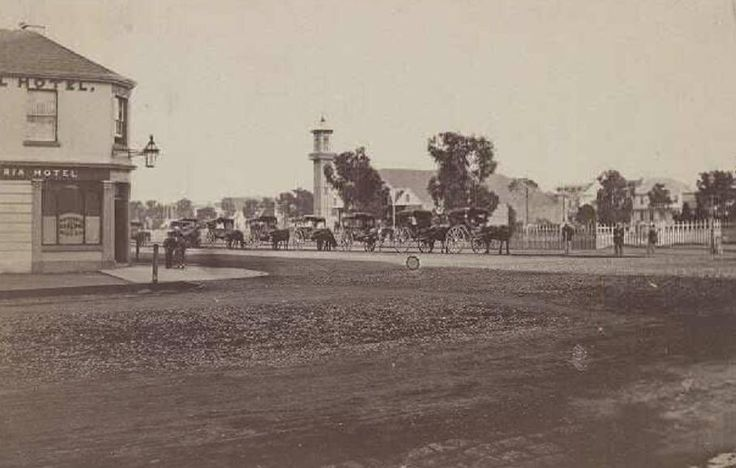Corner of Moorabool and Malop Streets, looking east, approximately 120 years ago, 1890s?