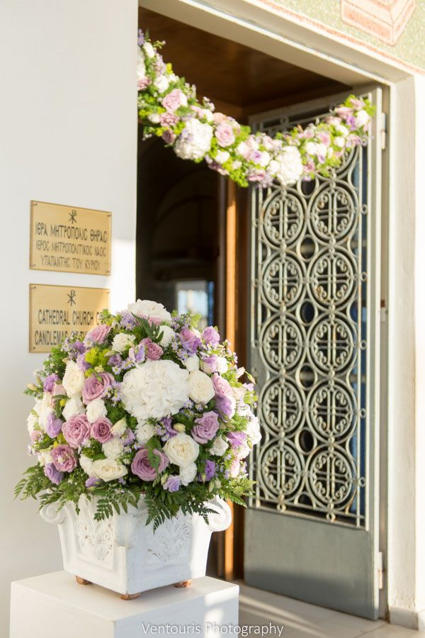 Beautiful garland and pedestal for church decoration