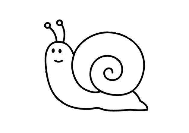 Dibujo de caracoles dibujo para colorear de caracoles for Dibujos pared infantil
