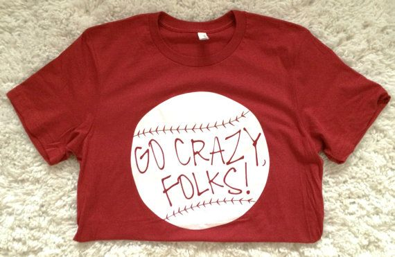 Cardinals fans know what this is all about. Perfect for game day... or any other day, really.  Please specify red or white print when purchasing any