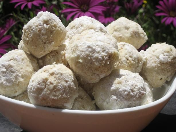 Tropical Hawaiian Snowballs.  I added two tablespoons of chopped, candied pineapple and doubled the coconut extract.
