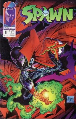 Spawn #1: Regular Edition (1992). Click for value   -   And here I thought it wasn't worth the paper it is printed on...