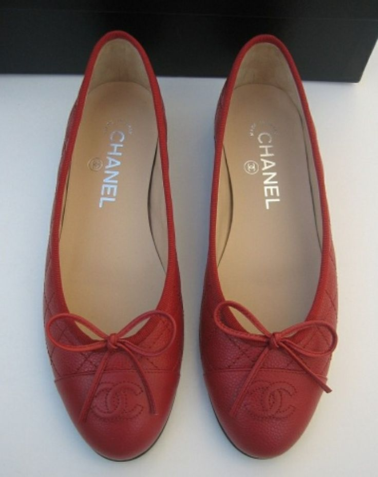 Red Chanel Ballet Flats! | Shoes | Pinterest | Chanel Ballet Flats Flats And Ballet