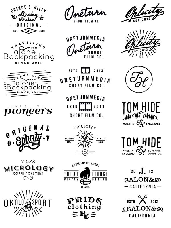 Logos 09- 13 on Behance