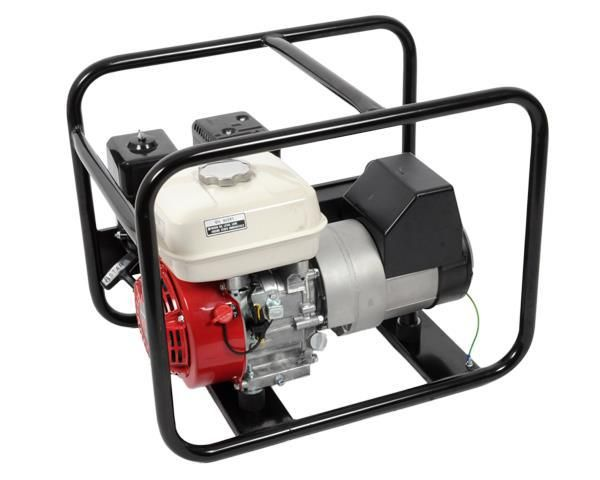 Honda Petrol GeneratorPetrol generator with maximum output of 2.5KVa @ sea level. 220V - 50 HZ.  Fitted with Sincro alternator.  Powered by Honda GX160 (3.6kW) 5HP petrol engine.  Recoil start. Low oil shut-down for engine protection.  Fitted with 2 x 3 pin SABS plugs. One year guarantee.https://www.shoptodrop.co.za/product/honda-petrol-generator/