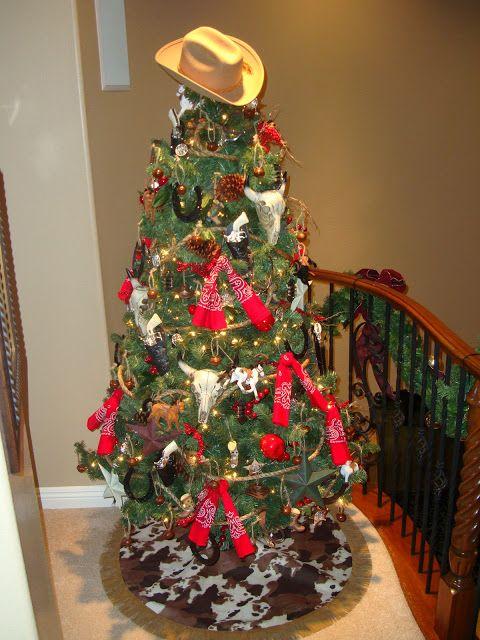 Cowboy+Christmas+Tree | Dimes are a Girl's Best Friend: Christmas Tree Skirt II (Cowboy Theme)