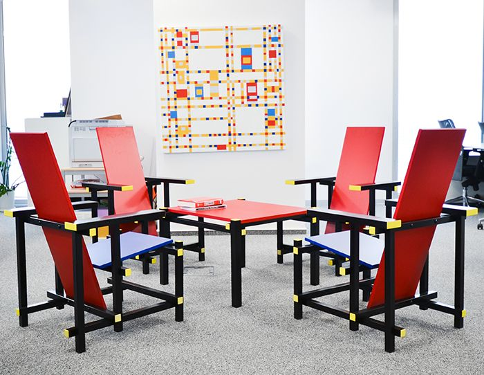 office, Bucarest office, colour, Mondrian