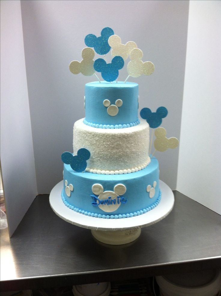 Baby mickey birthday cake luckytreats mickey lucky for Baby boy cake decoration