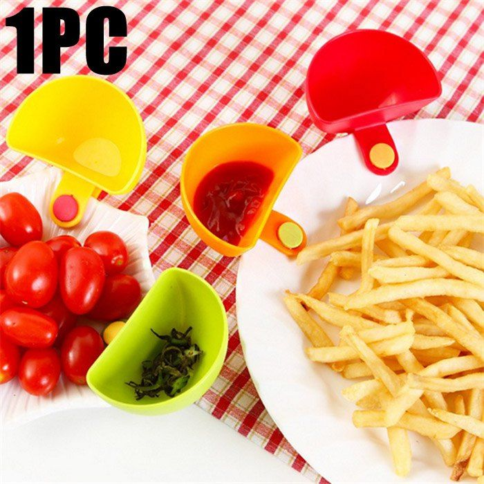 Multi-functional Plastic Clip Dishes Snacks Sauce Flavoring Plates #CLICK! #clothing, #shoes, #jewelry, #women, #men, #hats, #watches