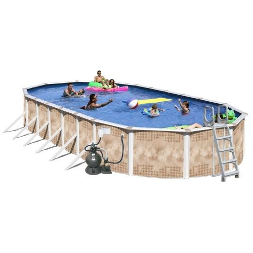 Splash pools oval deluxe pool package see more for Above ground pool packages cheap