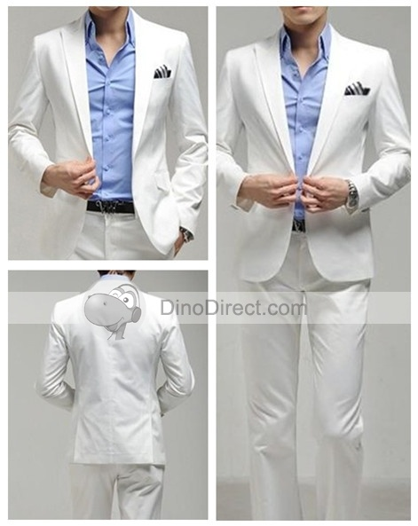 Pockets Wedding Single Breasted Casual Men Suits
