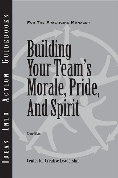 Have you ever wondered if you possess the characteristics and skills needed to build your team's morale, pride, and spirit? Learn your level of readiness in CCL's Guidebook, Building Your Team's Morale, Pride, and Spirit. This Guidebook focuses on two key components: time spent together in shared experiences and communication among team members. Available for purchase in print or ebook. $11.95 #Team #Communication #Morale #Pride