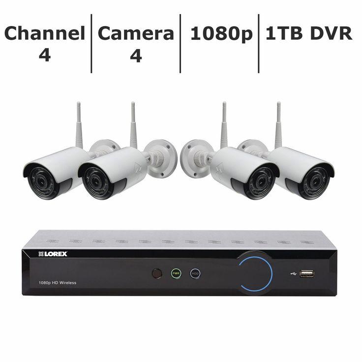Lorex 4-Channel 4-Camera 1080p Wireless Security System w/ 1TB HDD DVR