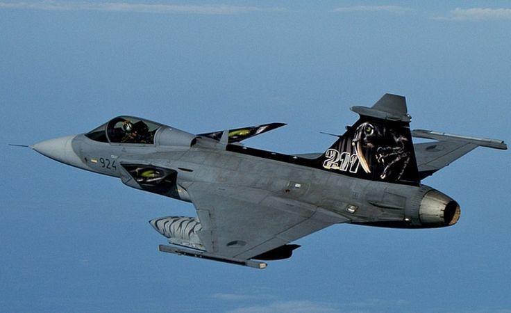 Caça sueco Gripen/Swedish Gripen fighter aircraft