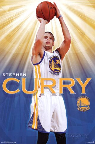 Stephen Curry - Golden State Warriors Basketball Poster Print at AllPosters.com