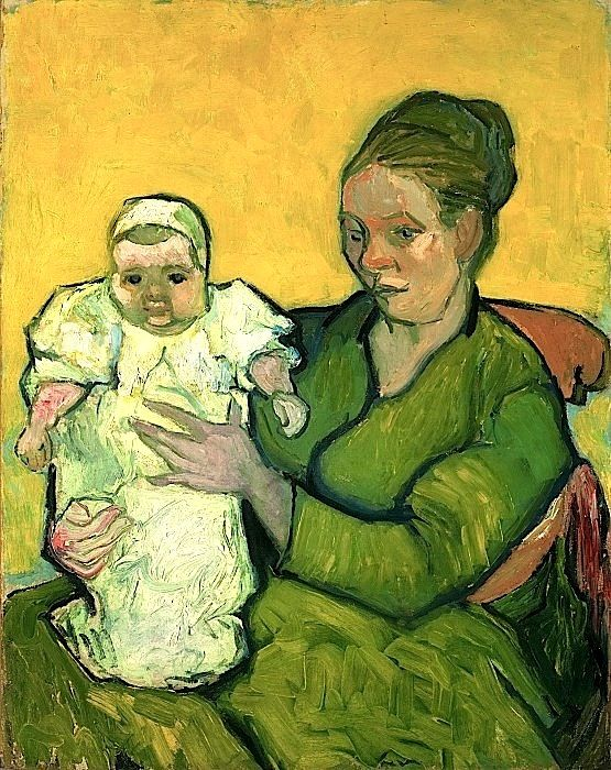 Vincent Willem van Gogh, Dutch, 1853-1890 — Portrait of Madame Augustine Roulin and Baby Marcelle