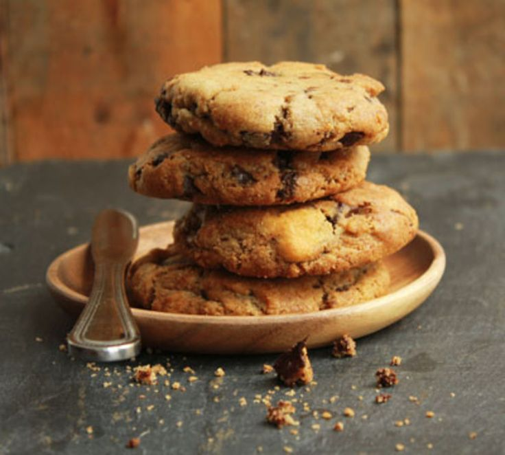 The key to these cookies' chewy, gooey appeal is a combination of the bitter chocolate chips and the high-fat butter (look for butters labeled European-style, or indicating 80 percent or more butterfat).