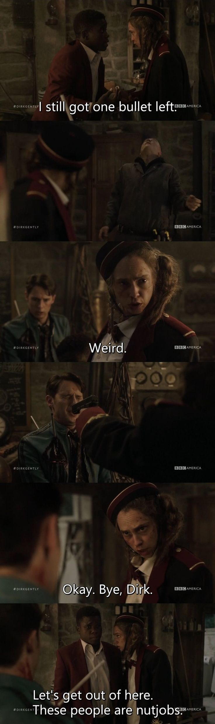 """Dirk Gently's Holistic Detective Agency """"Two Sane Guys Doing Normal Things"""" (1x08) - Bart"""
