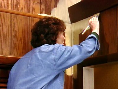 How to paint over paneling. This is good for those of us who have 70s houses! :)
