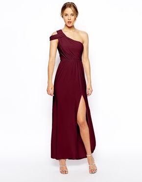 Asos One Shoulder Drape Maxi Dress Alyssa Would Murder Me