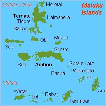 map of Maluku