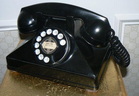 1930s Art Deco Bakelite Rotary Telephone Northern by KrauseHaus, $179.00