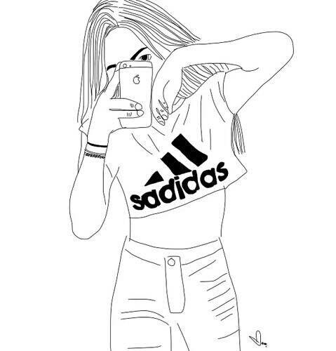 Распечатать рисунки крутые девочки