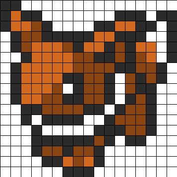 evee pokemon sprite bead pattern