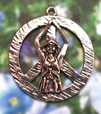 11 best peace sign jewelry peace sign pendants images on pinterest peace goddess jewelry peace sign pendant from mandarava mozeypictures Image collections