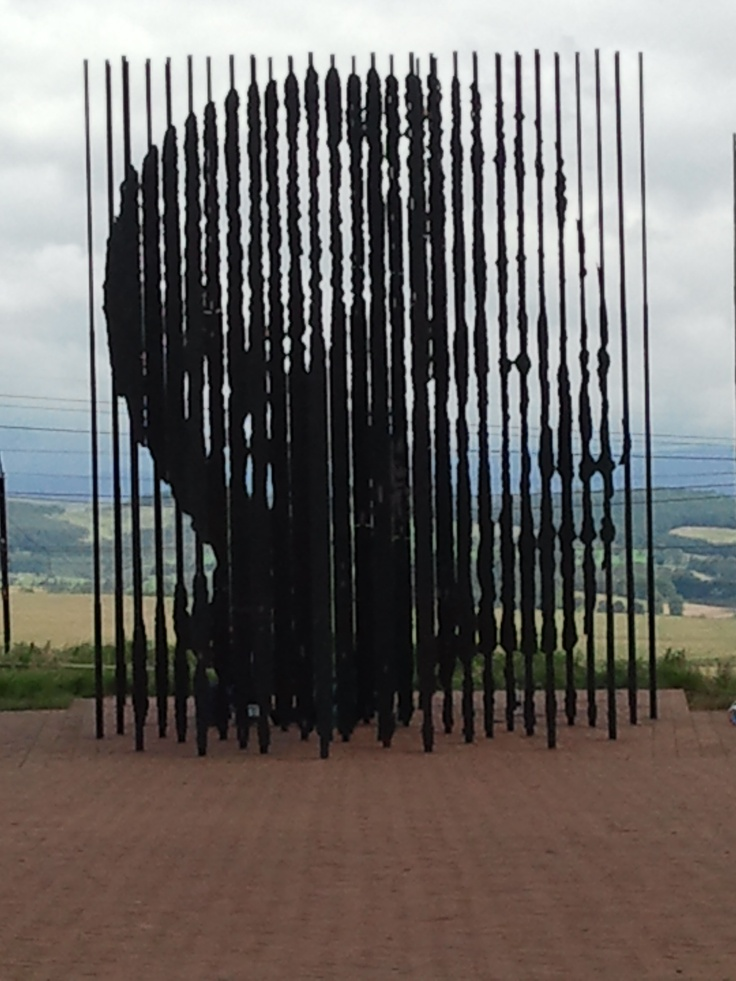 "Nelson Mandela Sculpture titled ""Release"" at The Capture Site Museum on the Natal Midlands Meander, South Africa. An unbelievable clever design by sculptor Marco Ganfanelli. Photo by Martie van Niekerk"