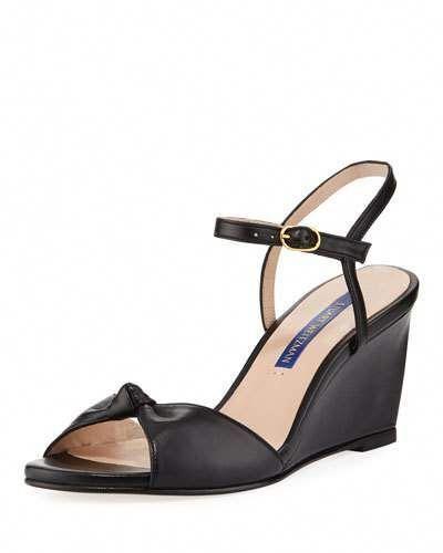 681840702 X4DRS Stuart Weitzman Gloria Leather Wedge Sandals  StuartWeitzman ...