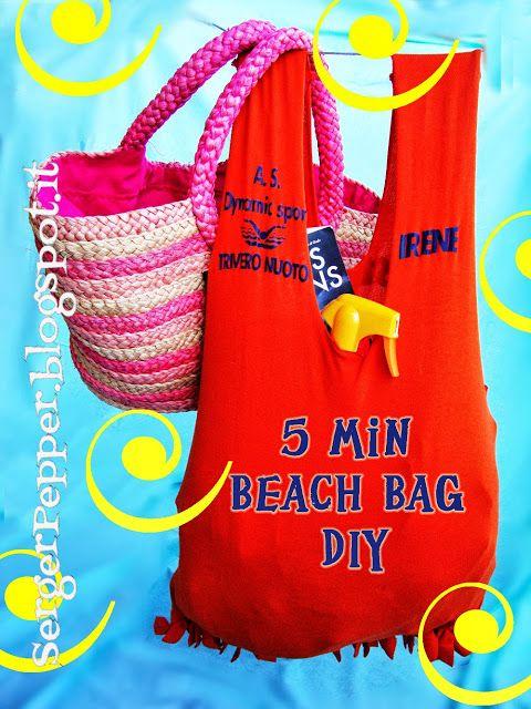 5 minutes Beach Bag - Borsa da Spiaggia in 5 minuti - Serger Pepper
