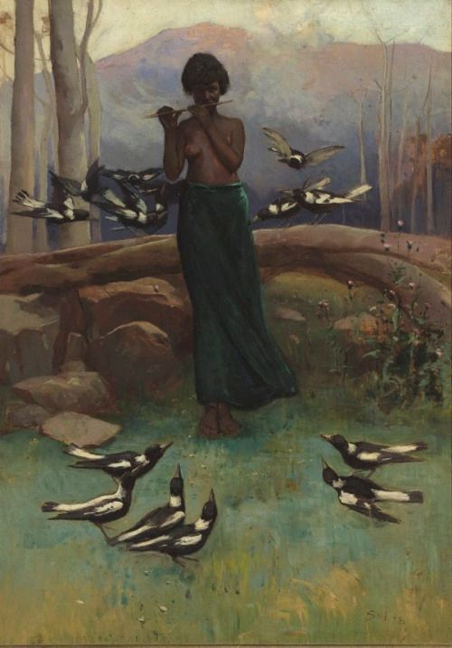Sydney Long (1871-1955) - The music lesson, 1904